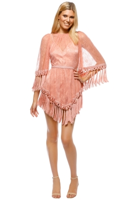 Alice McCall - Are You Ready Girl Mini Dress - Dusty Rose - Front