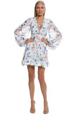 Alice McCall - Bluebell Dress - White Multi - Front