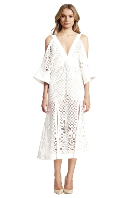 Alice McCall - Break my Love Dress White - Front