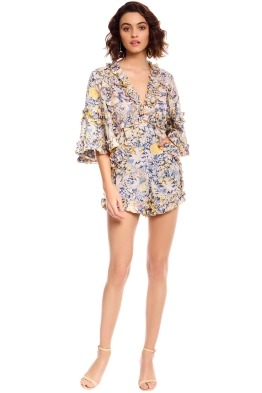 Alice McCall - Choose Me Playsuit - Gold Bloom - Front