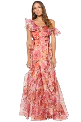 Alice McCall - Flora Gown - Scarlet - Front