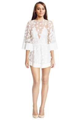Alice McCall - Gypsy Eyes Playsuit - White - Front