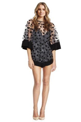 Alice McCall - Gypsy Eyes Playsuit - Black - Front