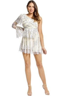 Alice McCall - Isnt She Lovely Dress - Cream Cobalt - Front