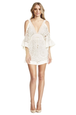 Alice McCall - Keep me there Playsuit White - Front