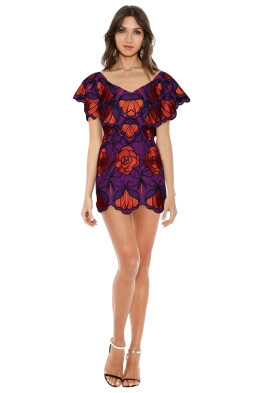 Alice McCall - Ms Rose Dress Violet - Front