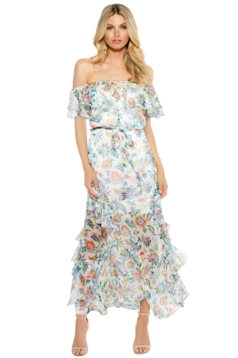 Alice McCall - Oh Oh Oh Maxi Dress - Ivory Garden - Front - Floral Print