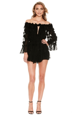 Alice McCall - Pastime Paradise Playsuit Black - Front