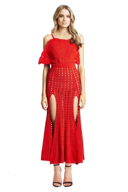 Alice McCall - Room is on Fire Dress - Front - Red