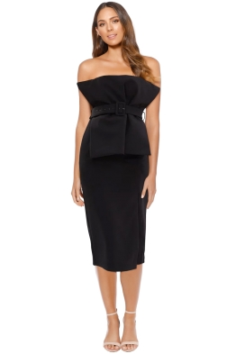 Asilio - Revolution Bustier Dress - Black - Front