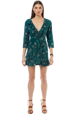 Auguste - Desert Dandelion Grace Mini Dress - Emerald - Front