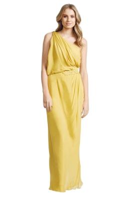 Aurelio Costarella - Athene Gown - Front - Yellow