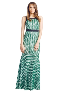 Badgley Mischka - Geometric Sequin - Front - Green