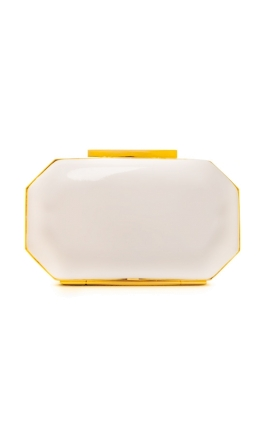 Badgley Mischka - Jane Clutch - White - Front