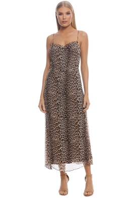 0fbf7dcffaa Bec and Bridge - Kitty Kat Slip Dress - Animal Print - Front