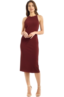 Bec and Bridge - Love Ruler Dress - Deep Rouge - Front