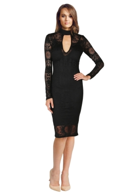 Bec & Bridge - Marvel Long Sleeved Lace Dress - Front