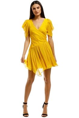 Bec+Bridge-Hibiscus-Golden-Mini-Dress-Marigold-Print-Front