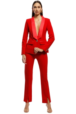 Bianca and Bridgett - Milan Blazer and Pants - Red - Front