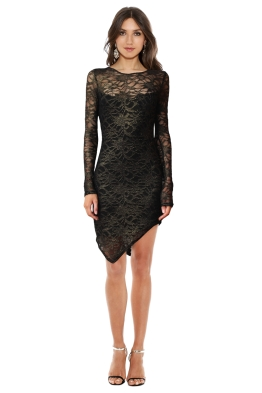 Backstage - Metallic Lace Dress - Front