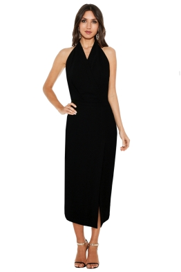Dion Lee Line II - Soft Lace Dress in Black - Front