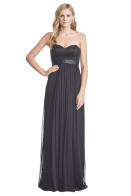 George - Pixel Gown - Front - Black