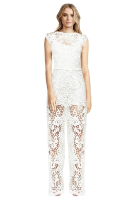 Body Frock - Brides Orchid Jumpsuit -  White - Front