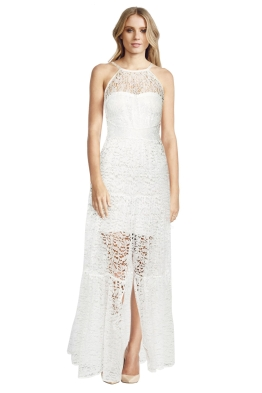 Body Frock - Brides Tiered Lace Dress - White - Front