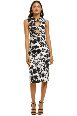 By-Johnny-Flower-Shadow-Bow-Dress-Black-White-Front
