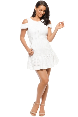 By Johnny - Marthe Lace Elastic Frill Mini - White - Front