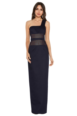 By Johnny - Mesh Panel Sharpened Gown - Front