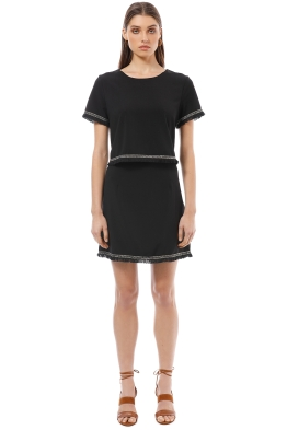 Calli - Syren Dress - Black - Front