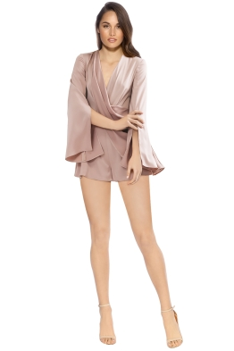 Cameo - Influential Playsuit - Sand - Front
