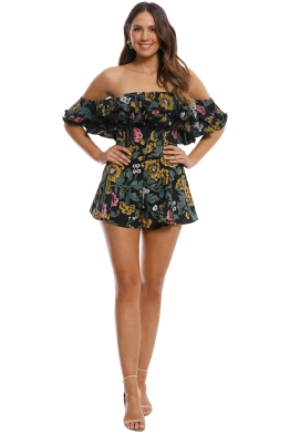 Cameo - Immerse Playsuit - Black - Front
