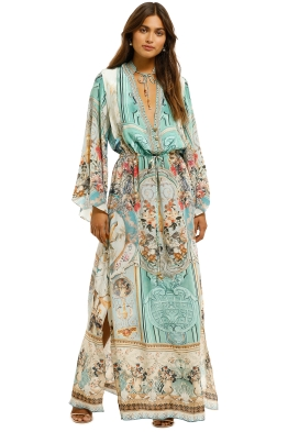 Camilla-Drawstring-Button-Up-Dress-Dream-of-Marie-Front