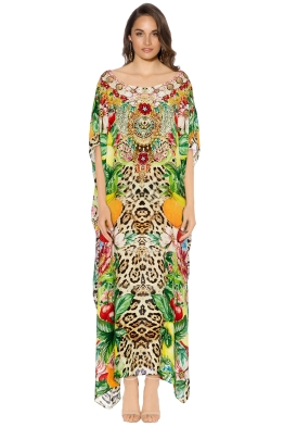 Camilla - Cool Cat Round Neck Kaftan - Front