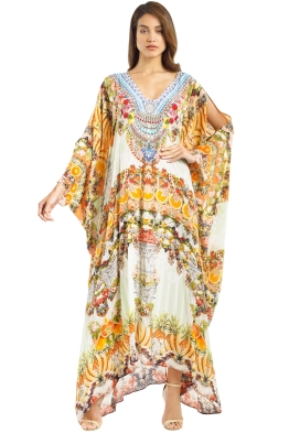 Camilla - Feeling Fruity Kaftan - Orange - Front