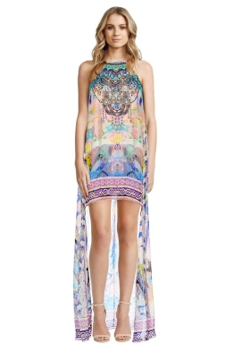 Camilla - Gaudi Tribute Short Sheer Overlay Dress - Front