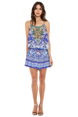 Camilla - Guardian Of Secrets Shoestring Playsuit - Prints - Front