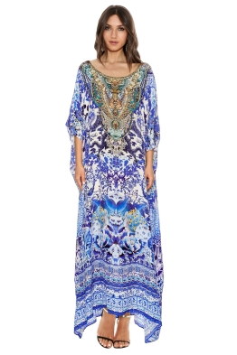 Camilla - Guardians of Secrets Round Neck Kaftan - Prints - Front