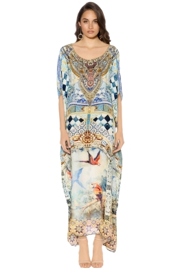 Camilla - Lovers Dream Round Neck Kaftan - Prints - Front
