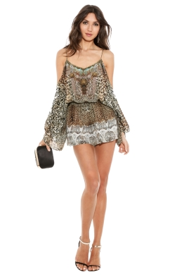 Camilla - Roar of the Court Playsuit - Front - Prints