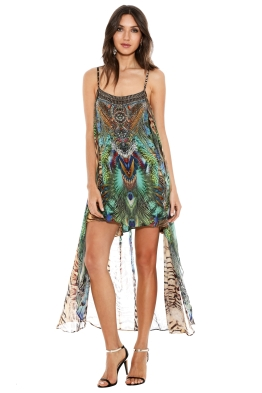 Camilla - Roar of the Wild Sheer Overlay Dress - Prints - Front