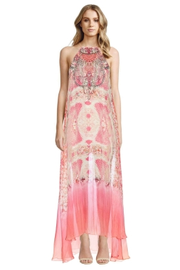 Camilla - Sea Serpent Sheer Overlay Dress - Front