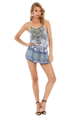 Camilla - Temptress of the Deep Playsuit - Prints - Front
