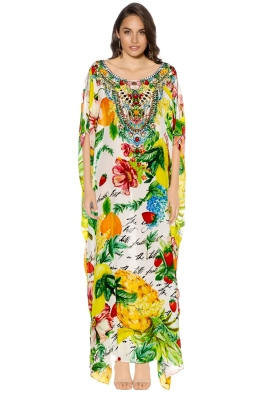 Camilla - There's No Place Like Rio Round Neck Kaftan - Front