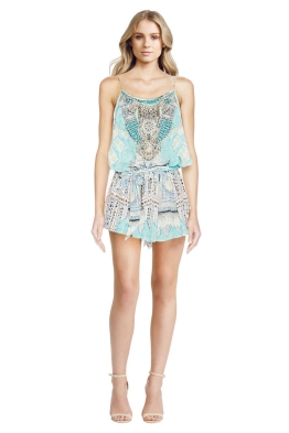 Camilla - Topkapi Thread Shoestring Playsuit - Front - Prints