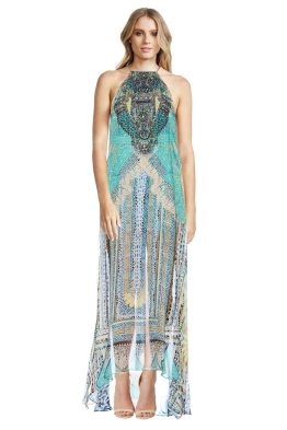 Camilla - Topkapi Thread Sheer Overlay Dress - Front - Prints