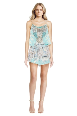 Camilla - Topkapi Thread Shoestring Playsuit - Prints - Front