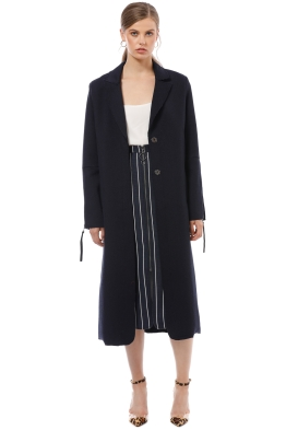 Camilla and Marc - Beckett Coat - Navy - Front